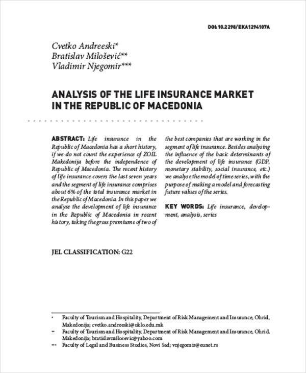 life insurance market analysis