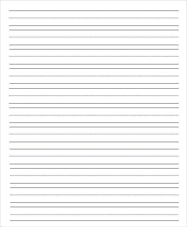 Lovely Lined Handwriting Paper For Kindergarten With Elementary Lined Paper Template