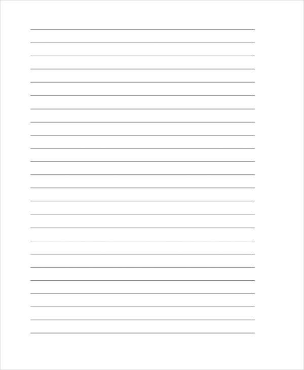 lined papers for writing