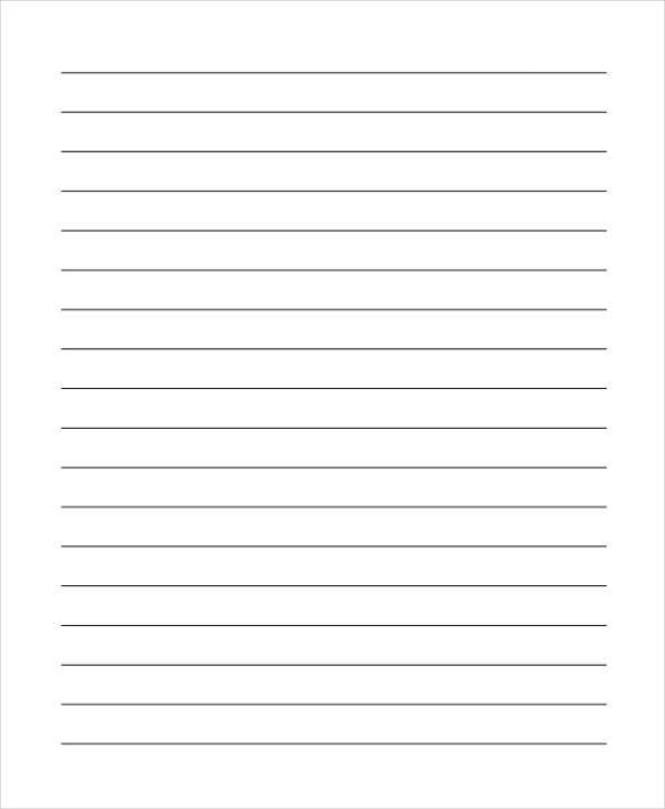 lined paper example