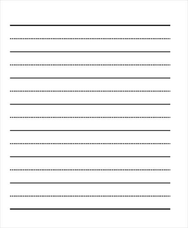 lined paper format