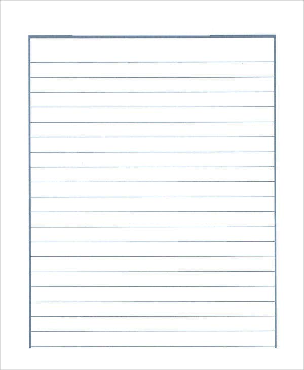 Lined Paper For Elementary School  Lined Blank Paper