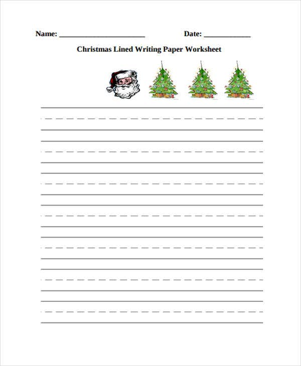 lined paper for kindergarten worksheet