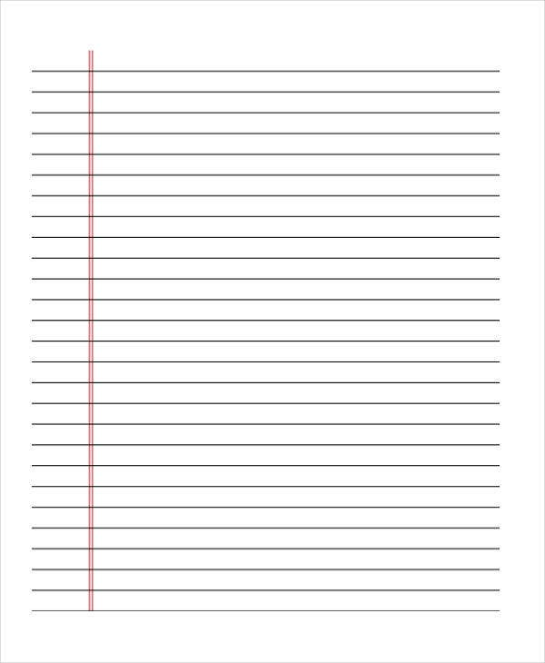 lined paper for school border