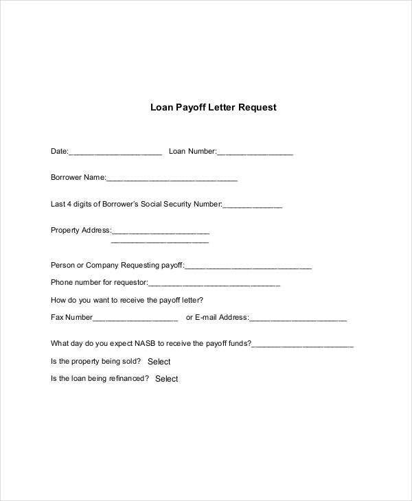 payoff letter template 92 request letter samples pdf word apple pages 377