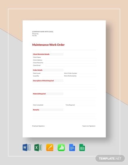 maintenance work order template1