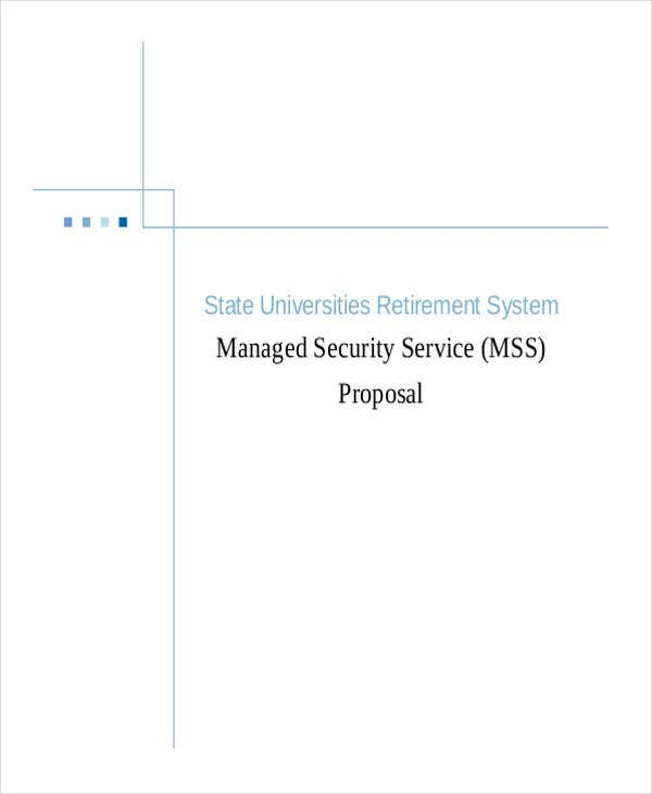 managed security service proposal