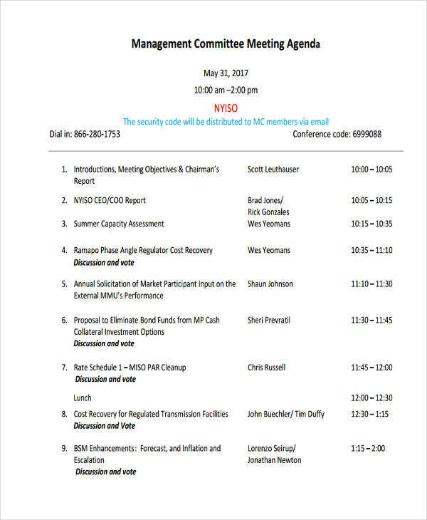 management committee meeting agenda2