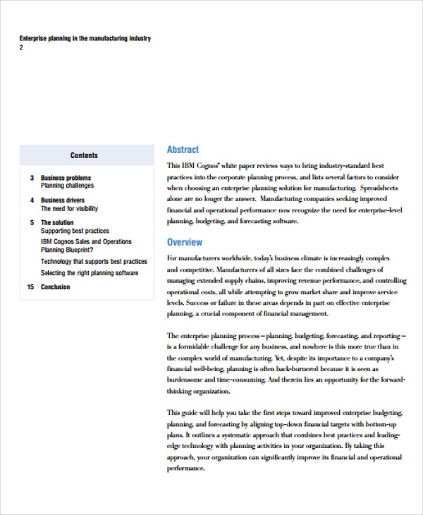 43 free white paper templates free premium templates manufacturing industry white paper accmission Images