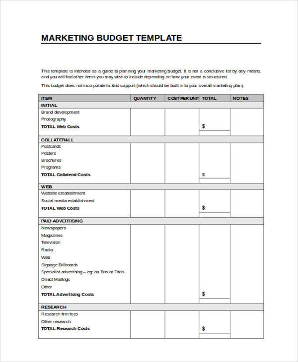 18 Budget Templates In Word Free Premium Templates