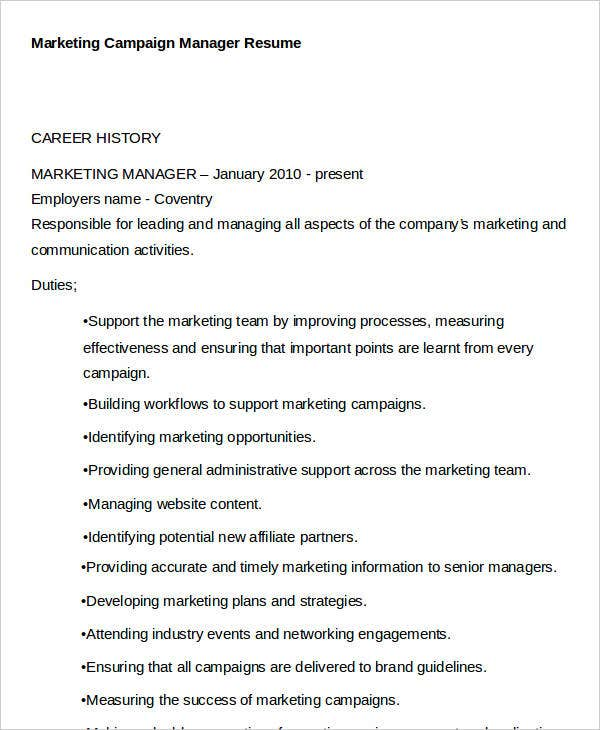 42 best marketing resume free premium templates