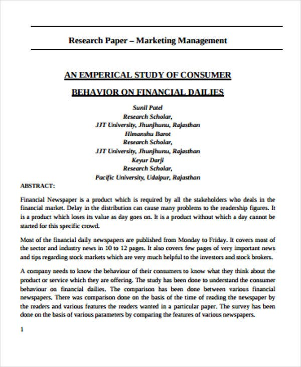 Business research essay