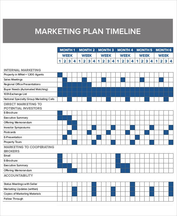 marketing plan timeline
