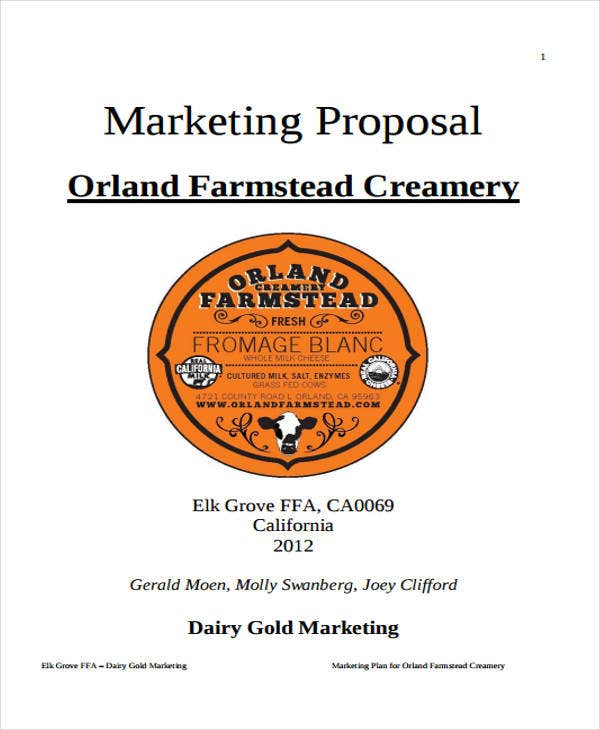 marketing proposal sample