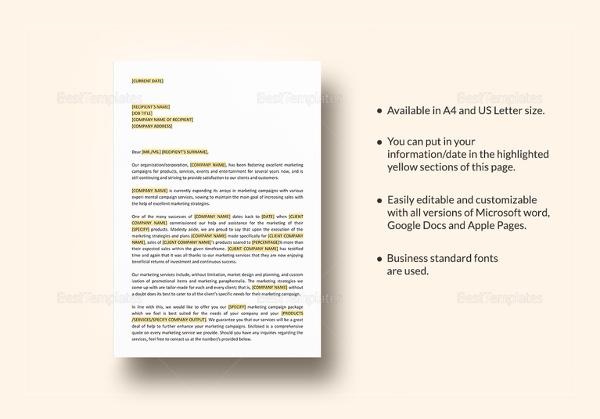 marketing proposal templates