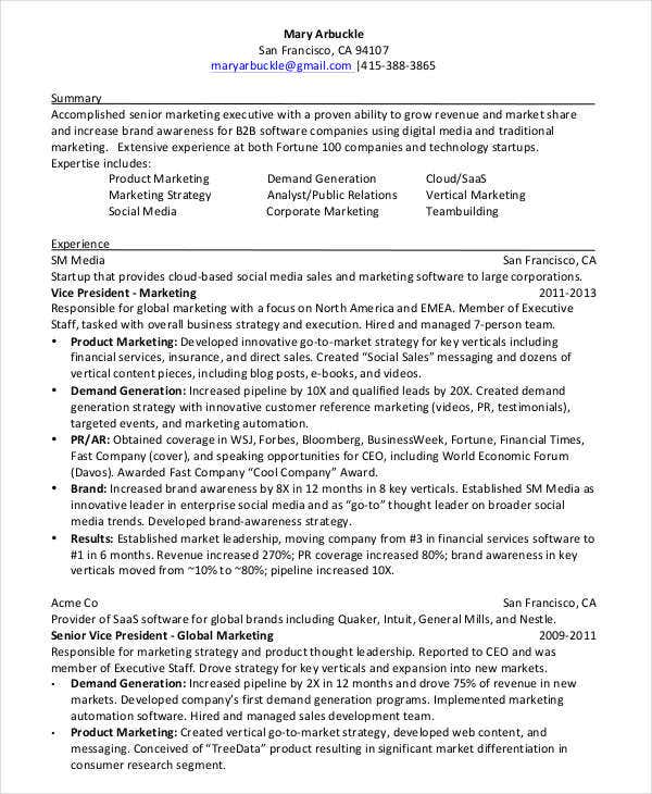 7  social media resume templates