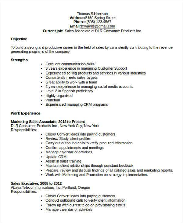 27  marketing resume templates in pdf