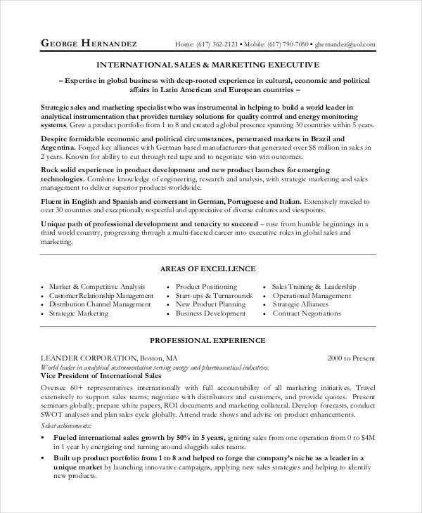 24+ Best Marketing Resume Templates - PDF, DOC | Free & Premium ...