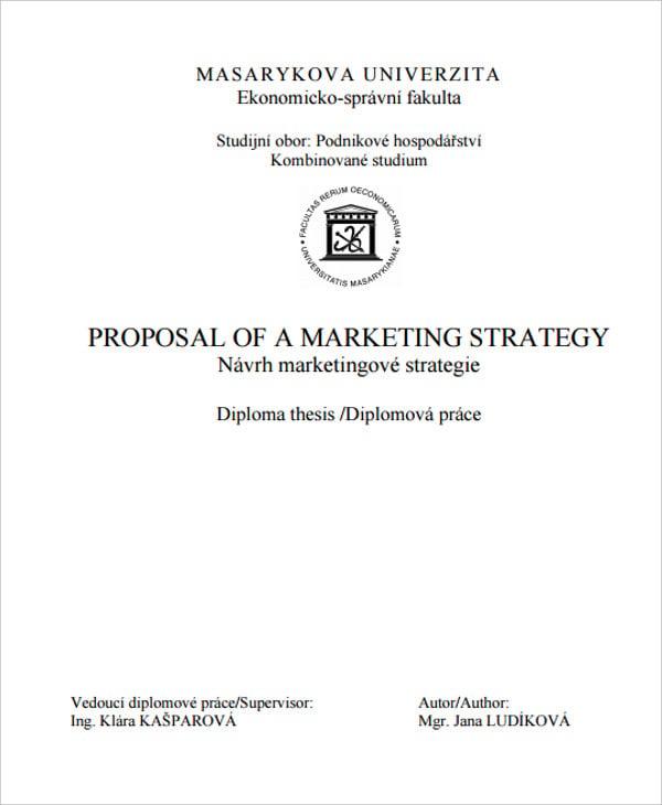 marketing strategy proposal
