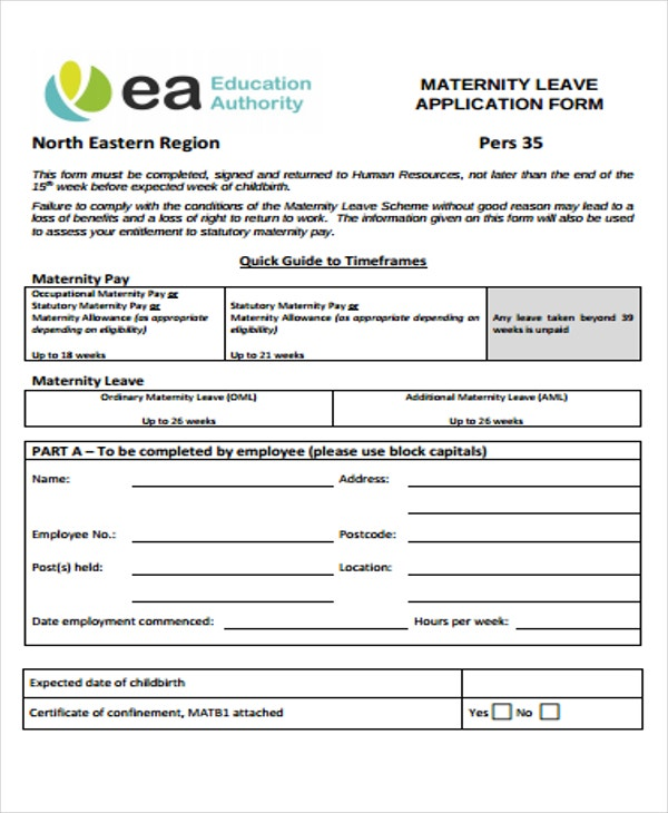 48 Application Form Templates – Leave Application Forms