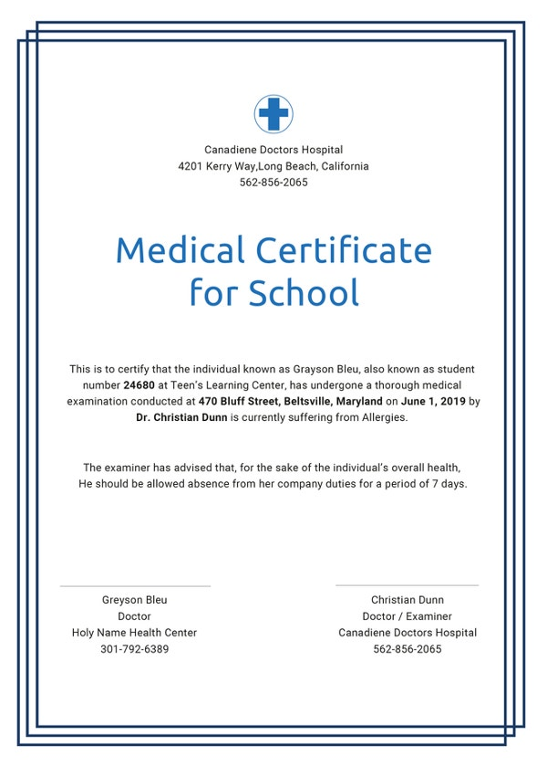 Free Medical Certificate Templates - 28+ Free Word, PDF