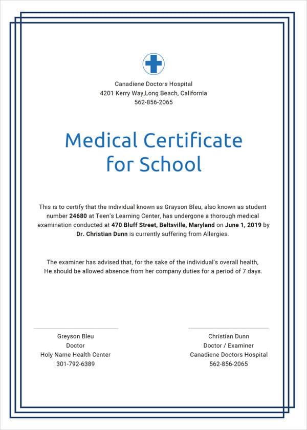 28  medical certificate templates in pdf