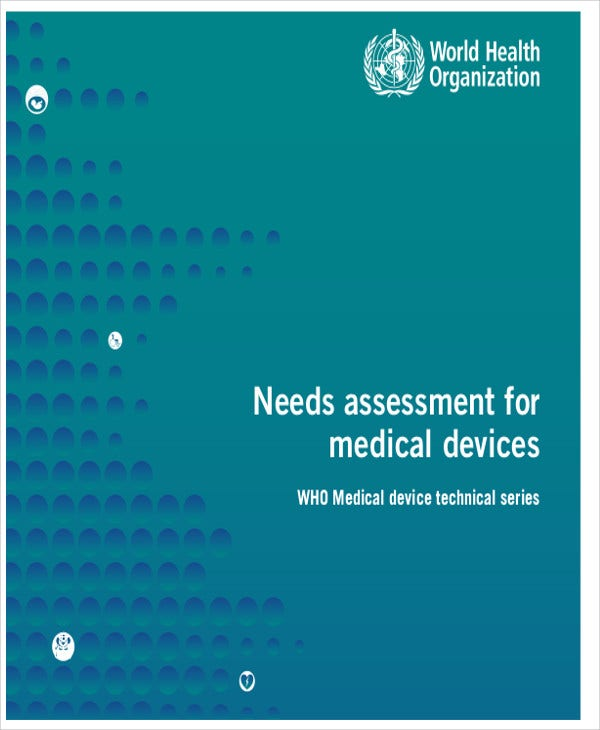 medical device needs assessment
