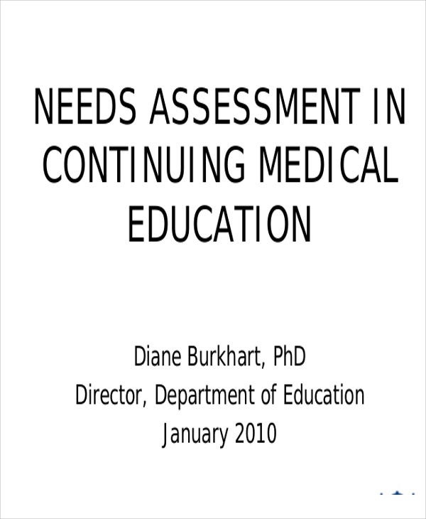medical education needs assessment