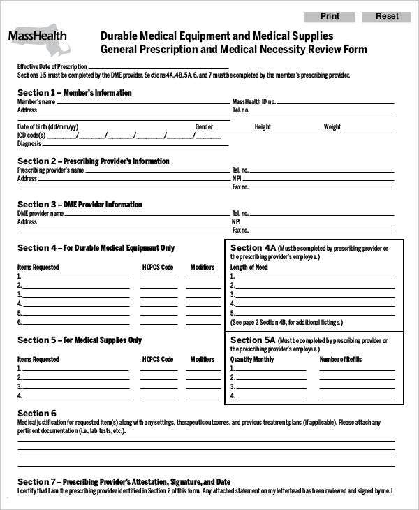 Medical Order Forms - 11+ Free Word, Pdf Format Download | Free