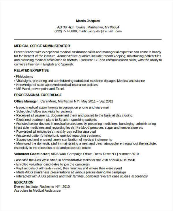 37 professional administrative resume templates pdf