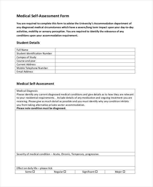 Free Assessment Forms  Free  Premium Templates