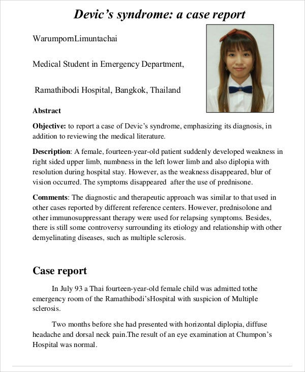 medical student case report example