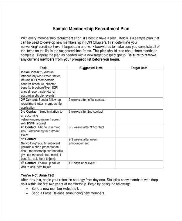 Recruitment Plan Templates   Free Word Pdf Format Download