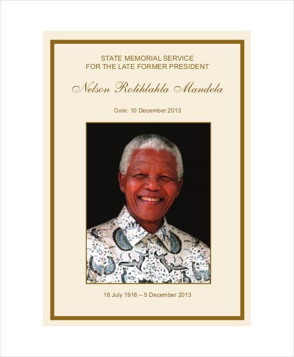 memorial service obituary