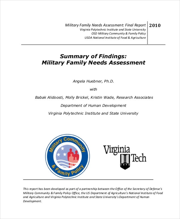military family needs assessment