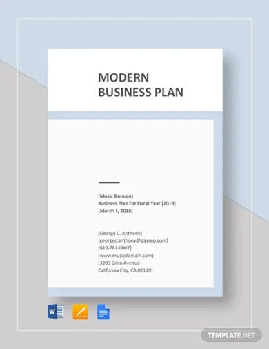modern business plan template