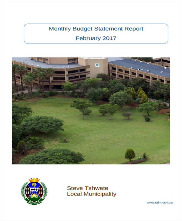 monthly budget statement report