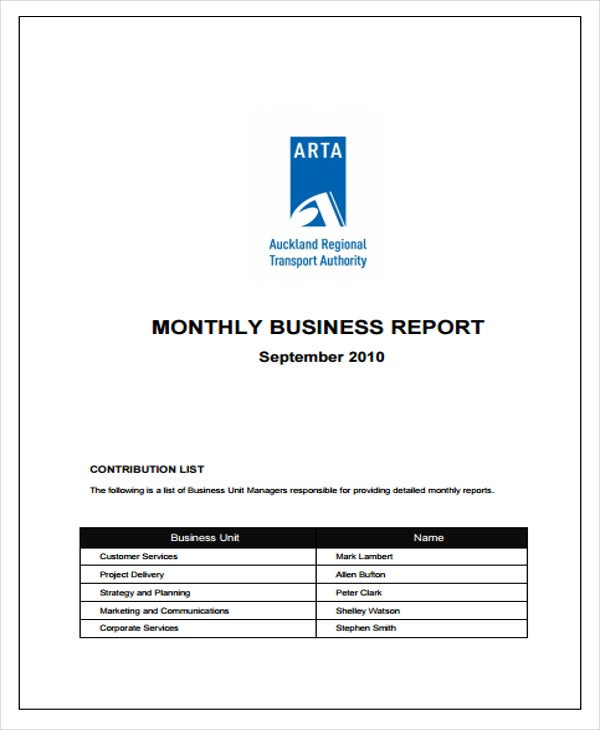 monthly business performance report1