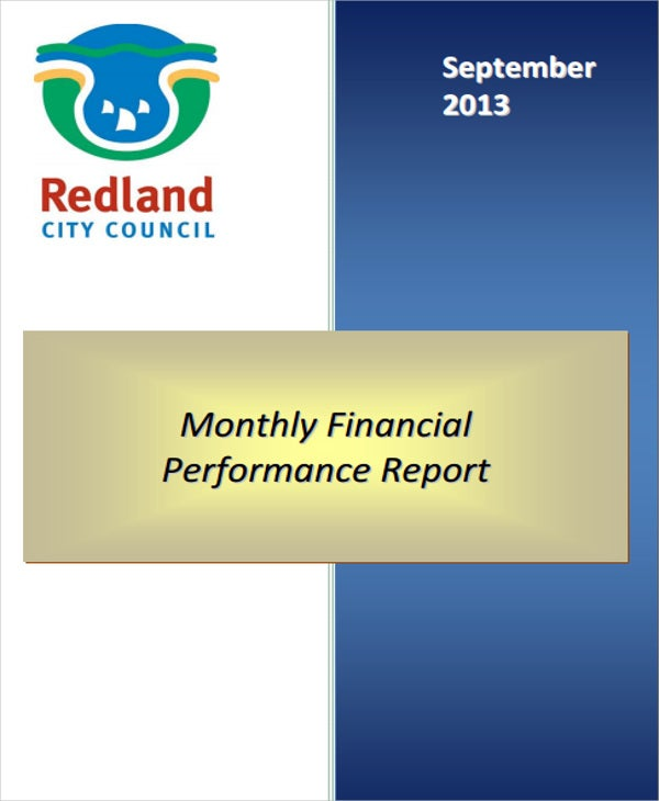 monthly financial performance report1