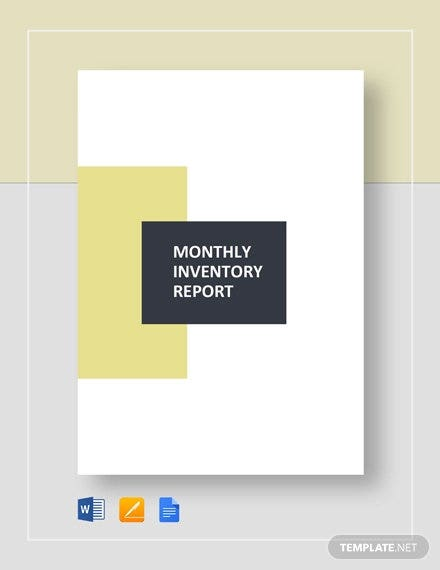 monthly inventory report template