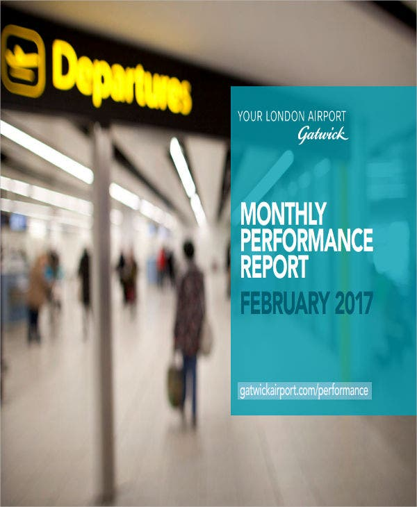 monthly performance report sample