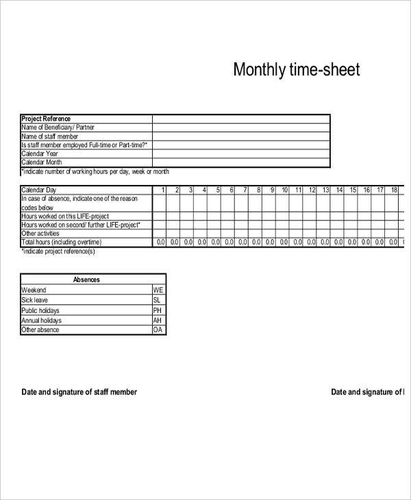 monthly project timesheet1