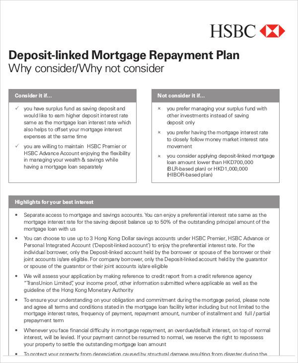 mortage repayment plan