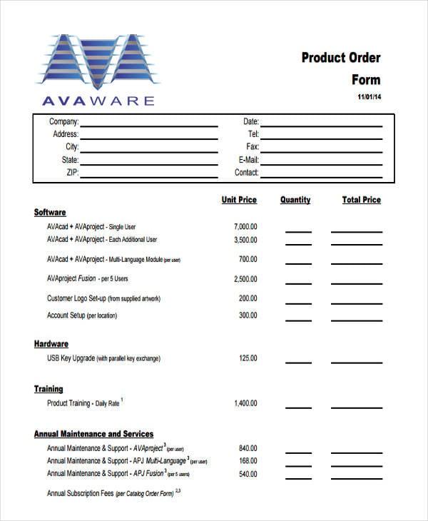 multi product order