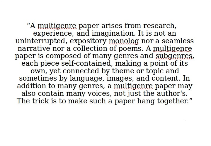 multi genre research paper