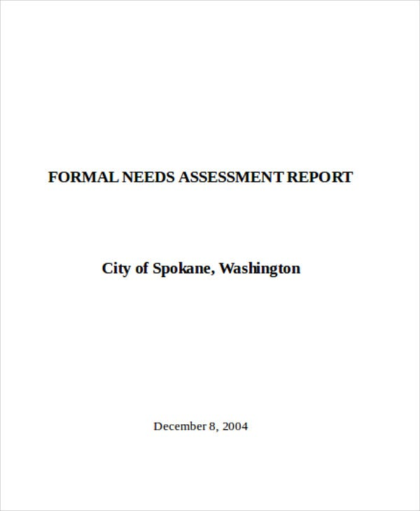 needs assessment report