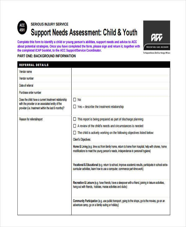 needs assessment for child youth1