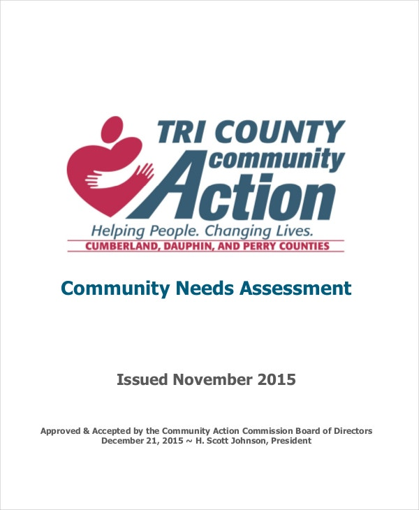 needs assessment for community action