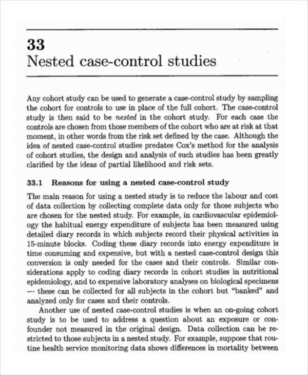 nested case control study