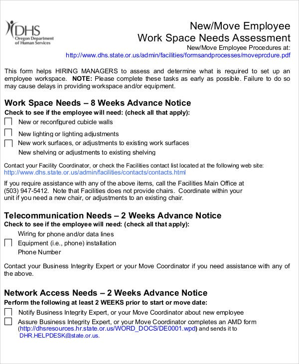 32 free needs assessment templates free premium templates new employee needs assessment1 wajeb Gallery
